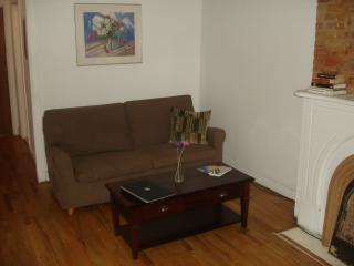 Couch in living room pulls out to double-size bed. - Comfort Lafayette - Convenience Has It's Benefits. - Brooklyn - rentals