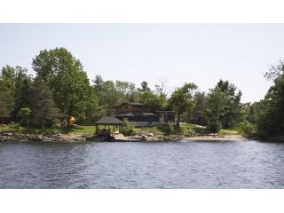 View of Cottage from boat out in the lake - Luxury Cottage - just 1hour 45min north of Toronto - Georgian Bay - rentals