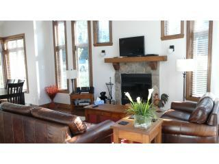 Open fire in the living area - Beautiful home on the golf - Mont Tremblant - rentals