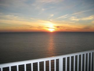 Sunset from our balcony - Tidewater Beach Resort  2 bedroom oceanfront condo - Panama City Beach - rentals
