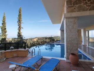 Hanging on a cliff,the villa offers panoramic view - Chania vacation rentals