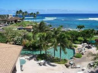 pool and ocean view - Ocean Front Lawai Beach Condo in Poipu - Koloa - rentals
