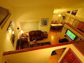 View from upstairs of living and dining rooms. - The Alta House Chateau - Girdwood - rentals