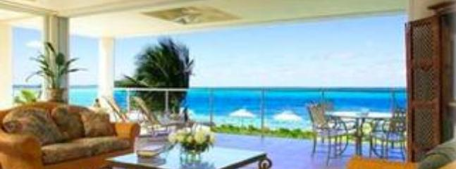 Living room opens onto beach - Large Luxury Condo directly on Grace Bay Beach - Providenciales - rentals