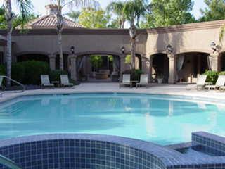 Main Pool and Spa With Ramada and BBQs - North Scottsdale 1 Bedroom Condo Great Location!! - Scottsdale - rentals