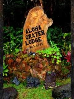 Aloha Crater Lodge located at 11-3966 Lanihuli Rd Volcano, Hawaii. Aloha E Como Mai, welcome! - Vacation Rental & Lava Tube Tour - Volcano - rentals