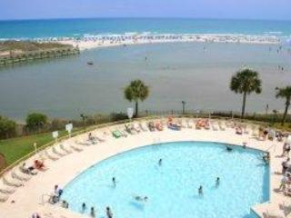 Ocean Creek Resort - Swimming Pool at Tower South - Family Vacation Condo at Ocean Creek -Tower South - Myrtle Beach - rentals