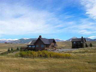 View of Main House/Guest House from River - Madison River Retreat - West Yellowstone - rentals
