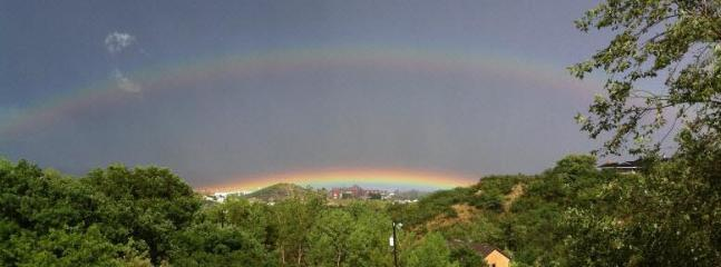 Double rainbow - view from front deck - Amazing Views! Lots of Wildlife. Sleeps 8 - Colorado Springs - rentals