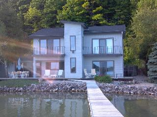 Gorgeous Home on Crystal Lake with Private Beach - Beulah vacation rentals