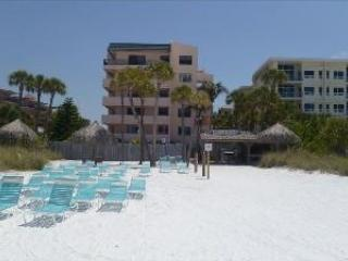 Sea Shell Condominium - view from beach - On the Beach! MARCH SPECIAL $1795/wk tax incl - Siesta Key - rentals