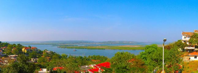 Panoramic View of the appartment with the River in the Background - Water Front Holiday Home Goa - Goa - rentals