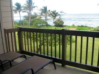 Kaha Lani Resort #224-OCEANFRONT 2nd fl. end unit - Kapaa vacation rentals