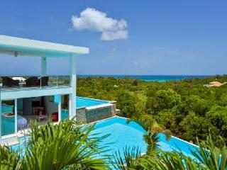 Grand Bleu - 2 level, villa features 2 pools, tropical surroundings & sunset views - Saint Martin-Sint Maarten vacation rentals