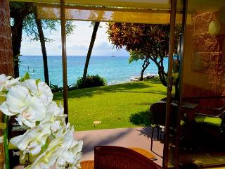 Celebrate 4th of July on Maui!  Oceanfront Secluded Beach New Furniture! - Lahaina vacation rentals