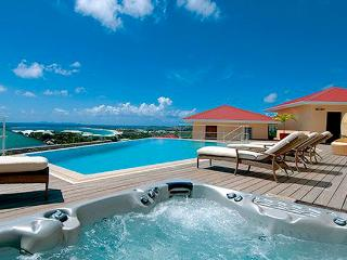 St. Martin Villa 197 An Exquisite, Luxury And Elegant 4 Bedroom, 4 .5 Bathroom Villa Set On The Hill Above Orient Bay. - Cul de Sac vacation rentals