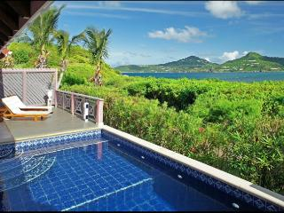 St. Barths Villa 61 Nestled In The Lush Vegetation, This Villa Offers A View Of The Caribbean Sea. - Terres Basses vacation rentals
