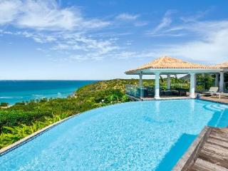 Happy Bay Villa offers ocean views, heated infinity pool, a short walk to beach & airport transfers - Grand Case vacation rentals