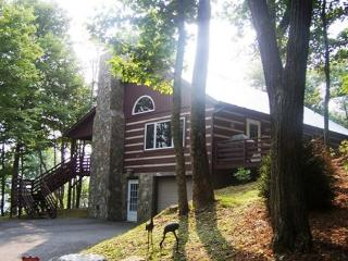 Bird's Wing is a traditional log cabin with a winter view tucked in the trees - Blowing Rock vacation rentals