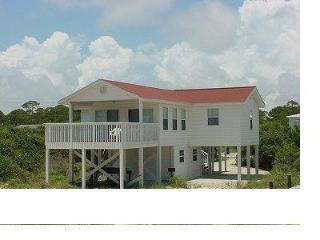 Sparkling water view from a covered front deck - Saint George Island vacation rentals