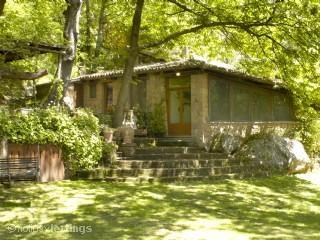 Front view of house - Secluded luxury on natural reserve- kid friendly! - Lubriano - rentals