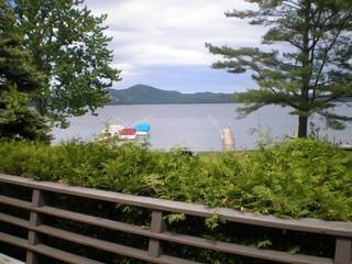 The view from the deck - Lovely 3 Bedroom Home on Lake George - Hague - rentals