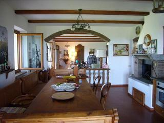 Kitchen Dining area - Idyllic Villa sought after location picture perfect vistas over Tuscany - Tuscany - rentals