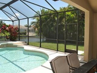 Pool with spa - Waterfront, Pool, Spa,  -Paradise is Waiting - Cape Coral - rentals