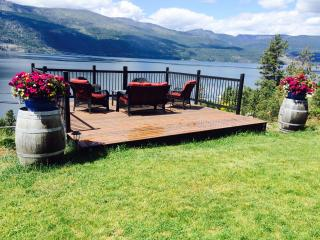 Breathtaking lake views @ the private Lookout deck - Lake Country vacation rentals