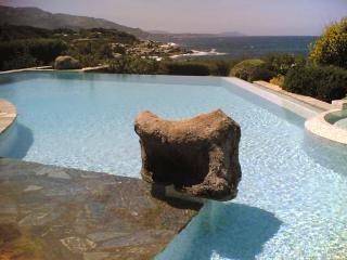 In the heart of Corsica, a house with a large pool and sea view, 10 m from the beach - Corsica vacation rentals