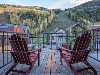 Slopeside views off the front porch. Ski in/out, private hot tub - Cimarron Peaks - Mountain Village vacation rentals