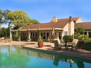 Elegant Vineyard Knoll Estate built around a central courtyard with valley views & pool - Glen Ellen vacation rentals