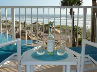 Coquina condo, Direct Oceanfront! Private WI-FI! New Listing, Remodeled with New Furniture! - Crescent Beach vacation rentals