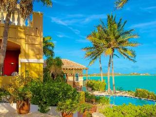Beachfront Three Cays Villa, gated with lush gardens, natural sea reefs & pool - Providenciales vacation rentals
