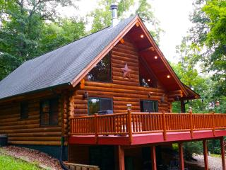 Paint Creek Lodge ... Secluded A-Frame Log Cabin - Iowa vacation rentals