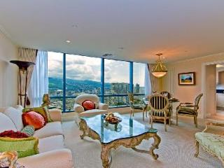 Ornate penthouse Waikiki Landmark #3501 with ocean view & amenities access - Honolulu vacation rentals
