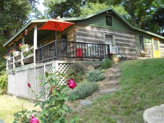 Charming log cabin on sparkling Clear Creek - Arkansas vacation rentals