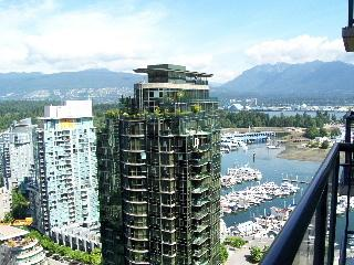 View from balcony - View, Two Bedroom Coal Harbour Apartment - Vancouver - rentals