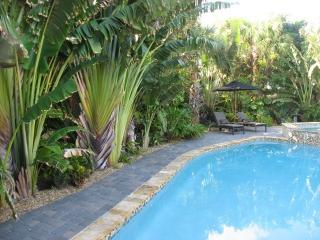 Private heated swimming pool w spa and waterfall - Riviera Beach vacation rentals