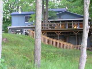 Michigan lakefront vacation home sleeps 13 - LeRoy vacation rentals