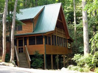 TRUE LOG CABIN ON A YEAR ROUND CREEK - Tennessee vacation rentals