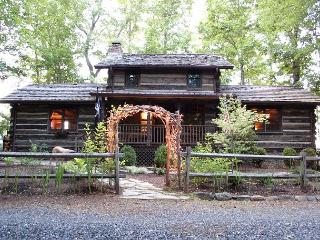 Antique Log Cabin - River and Mountain Views - Fire Pit - Hot Tub - Fenced - Fleetwood vacation rentals