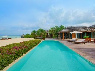 Beachfront Dhyani House with Daily Breakfast, Full Staff, Volleyball & Tennis - Parrot Cay vacation rentals