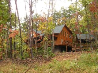 Private mountain cabin with outdoor fireplace - North Georgia Mountains vacation rentals