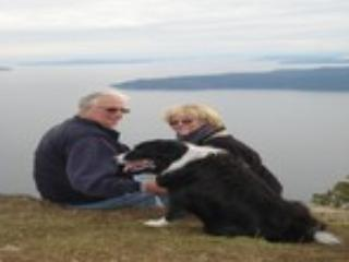 Taking in the view from Mt. Galiano - Ralph and Rocky Moyle