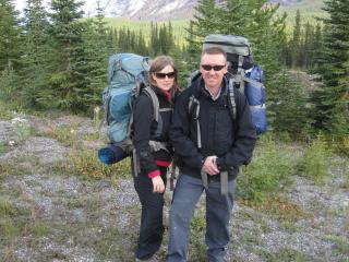 Michael and Janie hiking Mt Assiniboine area - Michael & Janie