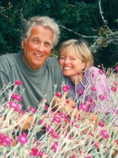 Summer on 'the Bluffs' with rose campian in bloom - Ralph and Rocky Moyle