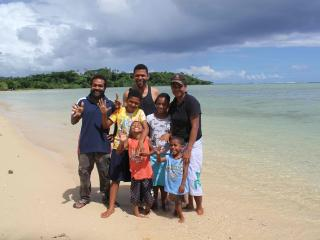 Another staff member with his family celebrating New Years at SigaSiga - SigaSiga Sands Cottages