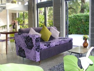 comfortable modern Pacific decor ground floor lead to sunny deck and plunge pool - Melinda K Morris