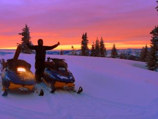 Snowmobiling on Buffalo Pass - Steamboat Vacation Rentals